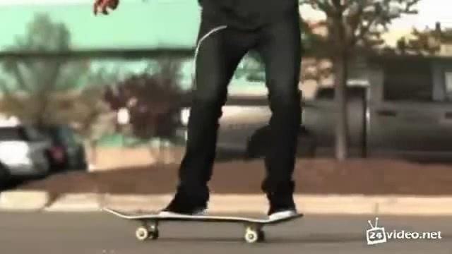 Трюки на скейтборде в замедленной съёмке