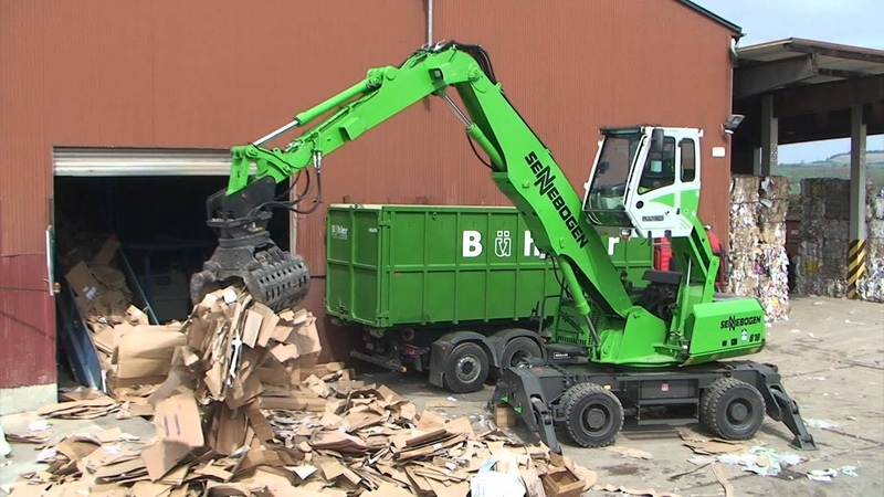 SENNEBOGEN - Recycling 818 Mobile Material Handler with sorting grab