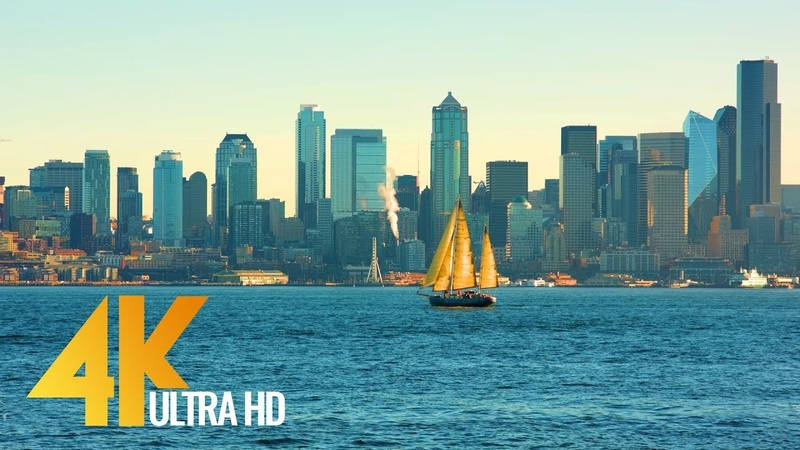 4K Ultra HD Seattle Relax Video View from Don Armeni Boat Ramp 2 5 Hours Video