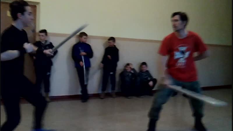Фехтування на шаблях. Віталій Філосов та Микита Чуб