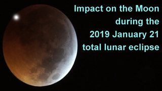 Impact on the Moon during the January 2019 lunar eclipse