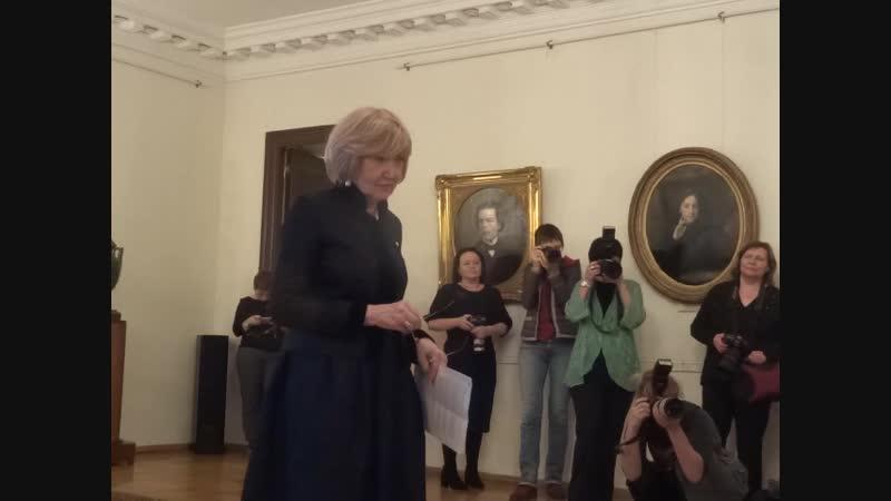 Директор Театрального музея Наталья Ивановна Метелица
