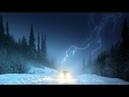 Снежная гроза в Москве, Россия   Snowstorm in and lightning Moscow, Russia