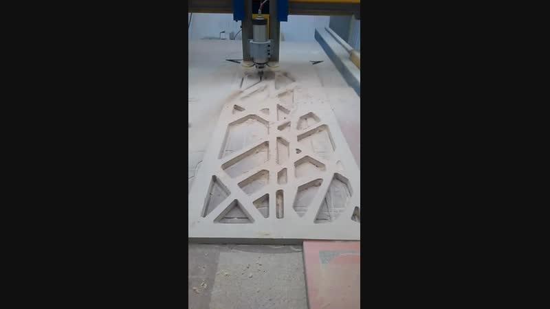 Изготовление для дизайн проекта перегородки на станке ЧПУ
