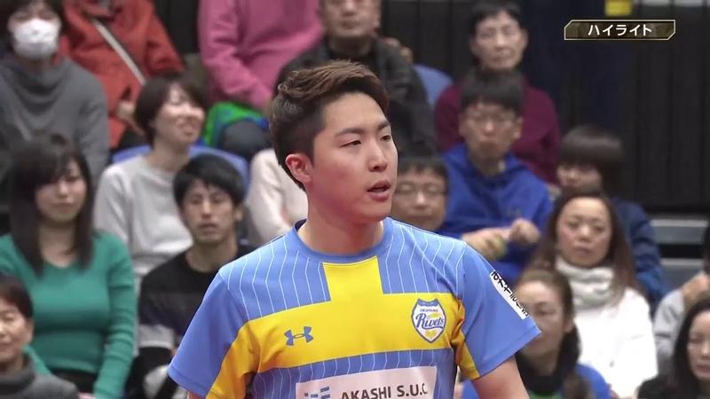 卓球 ノジマTリーグ 2月23日 木下マイスター東京 vs 岡山リベッツ
