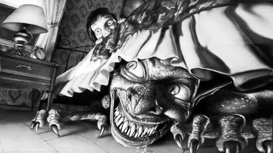 Мама укладывает сыночка спать: А не будешь слушаться придёт ужасный бабайка и заберёт тебя! И мальчик понимал, что надо, надо скорей убрать игрушки, перестать кривляться, почистить зубы и