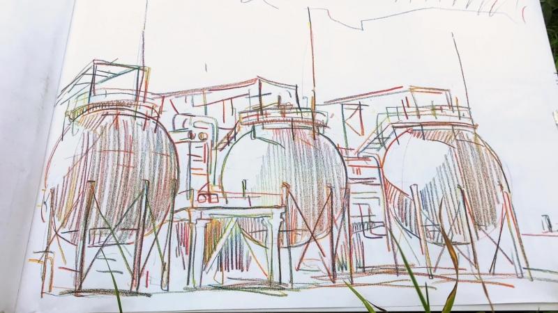 Пленэр на томской площадке СИБУРа