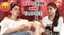 Who Is Your Celebrity Crush Rapid Fire With Taapsee Pannu Game Over Heroine Taapsee