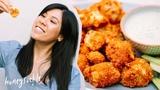 HEALTHY Snack Idea - Buffalo Cauliflower Wings