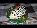 Праздничный Салат Очень Вкусный Необычный и Красивый с Копчёного Мяса и Сыра