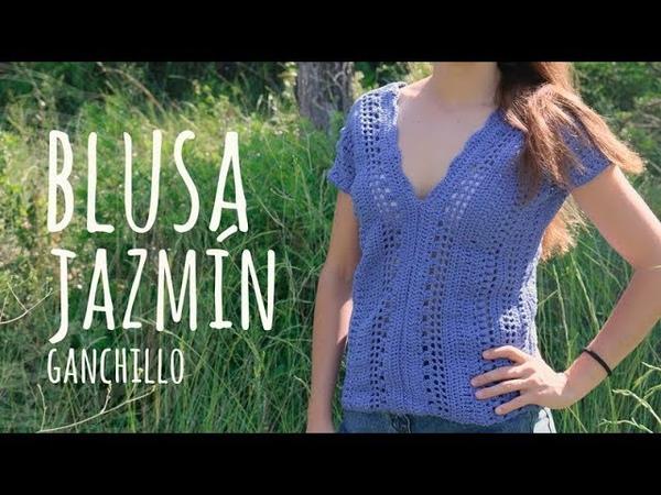 Tutorial Blusa Jazmín Fácil y Rápida Ganchillo - Crochet   Lanas y Ovillos