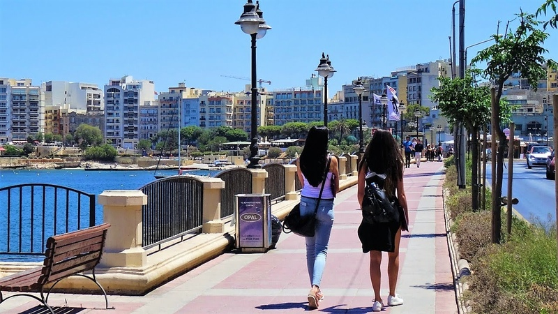 St Julian's Sliema, Malta (from bus)