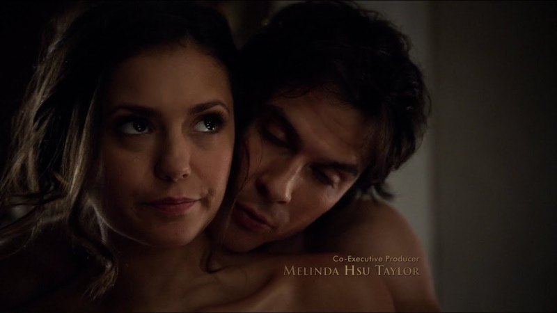 The Vampire Diaries 6x18 Elena and Damon hot make out and love scene