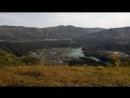 Осень, Катунь бирюзового цвета, лес горит красно-жёлтой листвой Подъём на г. Черепан 776 м.