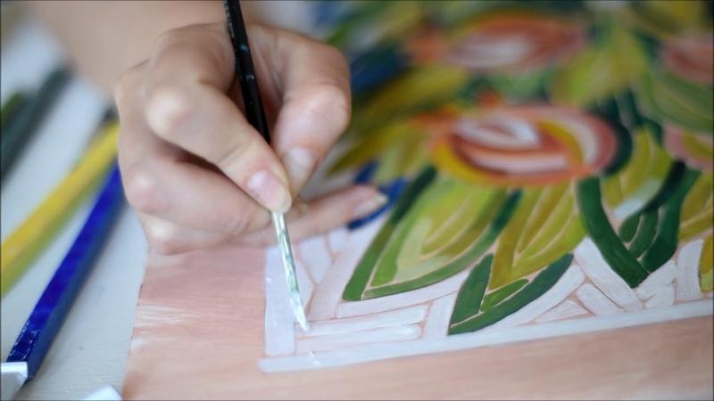 Курс Как нарисовать картон под мозаику