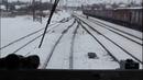 Взятие с места и разгон поезда электровозом ВЛ8м 596 Вес поезда 5785 тонн, 240 осей