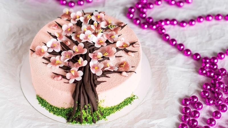 ТОРТ САКУРА Рецепт структурного шоколада Шоколад для создания веточек и деревьев