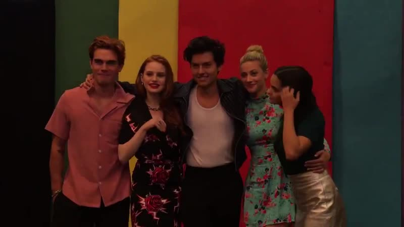 Trust falls with the cast of Riverdale @latimes_entertainment