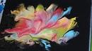 Acrylic pour Flower Dip Mini canvas Акриловая заливка Носом в краску
