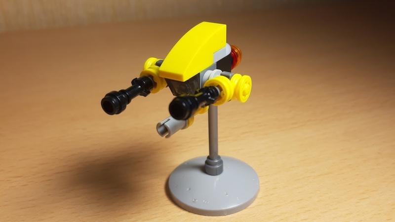 [Лего самоделка] Мини-самолет с пушками для МФЗ | Настолка Mobile Frame Zero из деталей lego