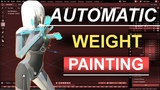 Blender 2.8 Automatic Weight Paint In 10 Seconds!