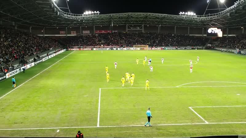 14 02 2019 БАТЭ vs Арсенал гол Драгуна