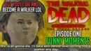 FUNNY MOMENTS of The Walking Dead The Final Season Episode 1 Done Running