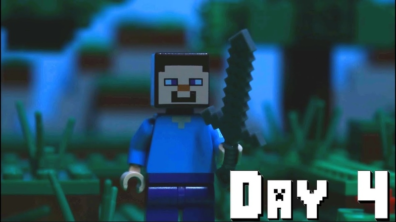 LEGO Minecraft Survival Day 4 Stop Motion Animation