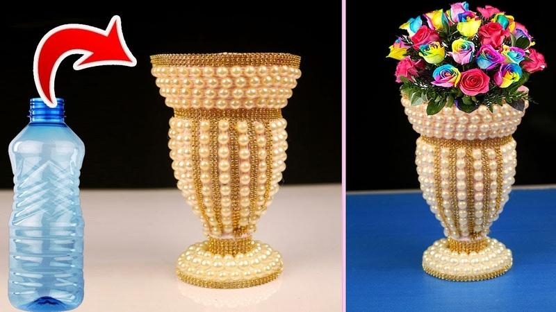 Plastic Bottle Flower Vase Best Out Of Waste Plastic Bottle Craft Home Decor