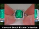 ESTATE 5 57 Carat Natural Colombian Emerald Diamond Ring Jewelry Auction