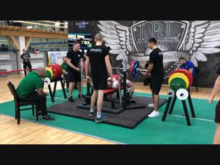 Никулин Алексей жим лежа 170 кг