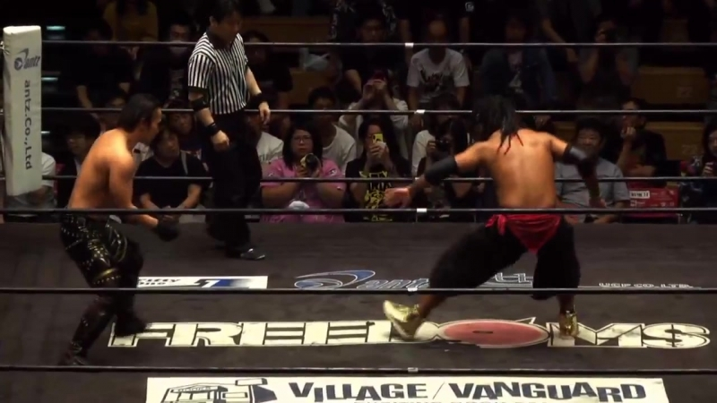Brother YASSHI (c) vs. Yuya Susumu (FREEDOMS - 9th Anniversary Show - Road to 10th Anniversary)