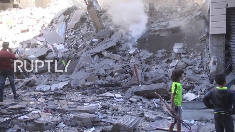 State of Palestine: Al-Amal Hotel levelled after Israeli airstrikes in Gaza