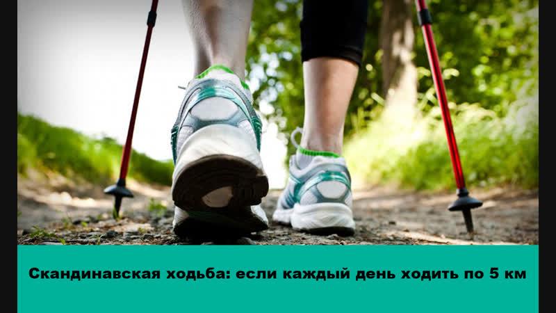Скандинавская ходьба: что будет с Вашим телом, если каждый день ходить по 5 км и более?
