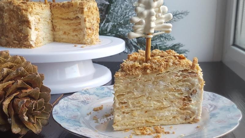 Торт НАПОЛЕОН🎂 ОЧЕНЬ ВКУСНЫЙ РЕЦЕПТ🎂Napoleon cake recipe