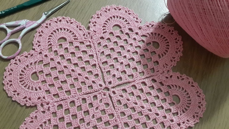 Tığişi Örgü Kalp Modeli Yapımı, Çeyizlik Yatak Odası Takımı Crochet