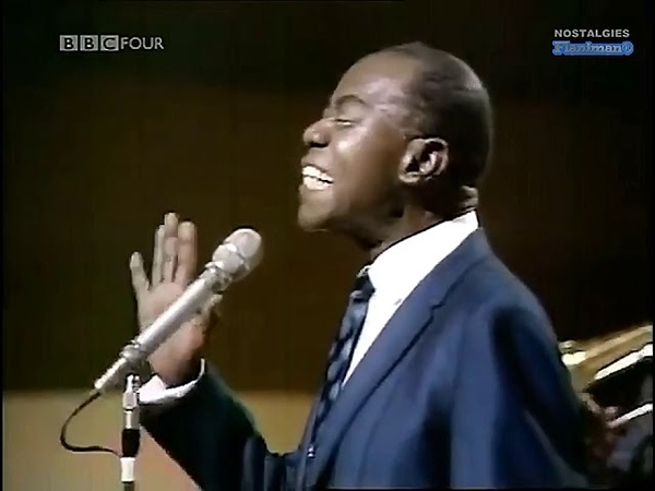 ♫ Louis Armstrong ♪ What a Wonderful World (TV Show 1967) ♫ Video Audio Remastered HD