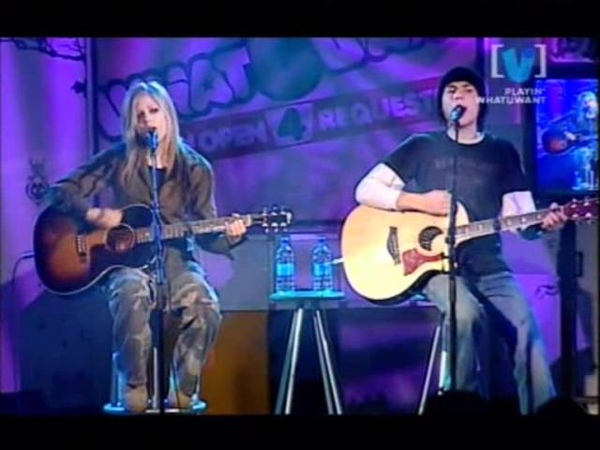 Avril Lavigne My Happy Ending Sk8er Boi Take Me Away Live @ ChannelV whatUwant 08 17 2004 Part 1 2