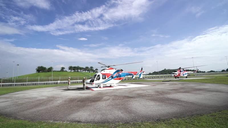 Демонстрационный тур вертолетов Ансат и Ми-171А2 в Малайзии