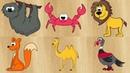 Название животных для детей. Учим животных. Мультик о животных для малышей