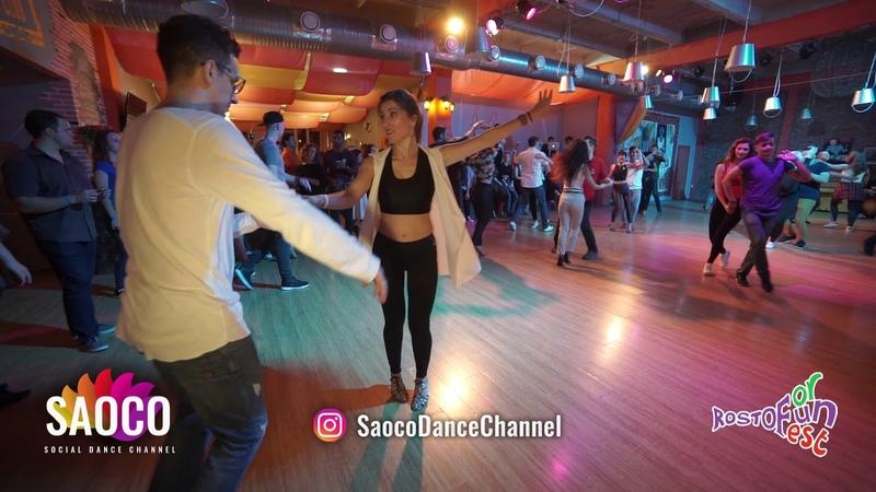 Man and Svetlana Salsa Dancing at Rostov For Fun Fest 2018, Monday 05.11.2018 (SC)