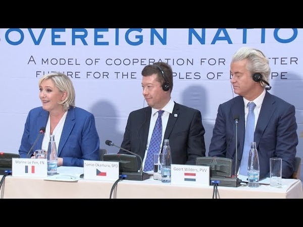 [English] Marine Le Pen presents her vision of a Europe of Nations
