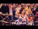 Drumming 2 girl contest! S White vs Vela Blue