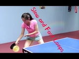 How to Play Slow &amp Spinny and Fast &amp Powerful Forehand Loops