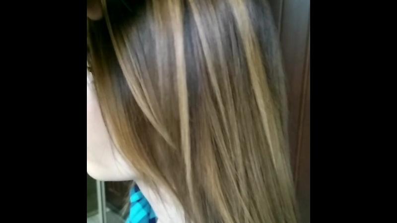 Калифорнийское мелирование волос от мастера Светланы