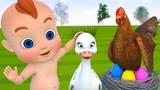 Aprende los colores para descubrir los huevos con beb
