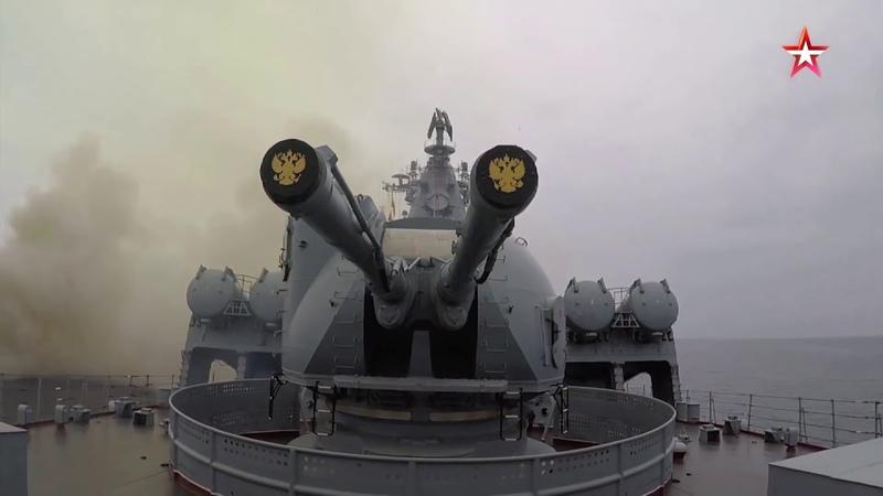Пуск крылатой ракеты «Вулкан» с корабля ТОФ