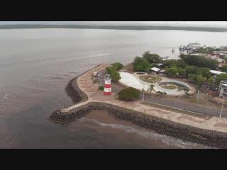 Город Пунтаренас с высоты птичьего полёта (полуостров в Коста-Рике)