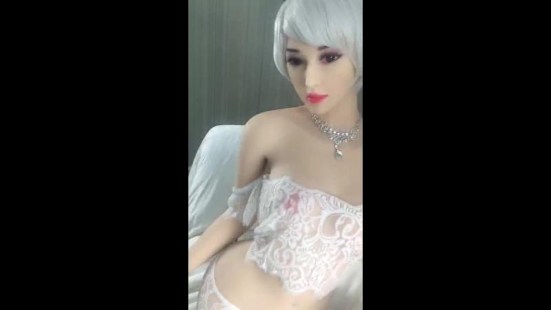 Sex doll wearing white sexy underwear