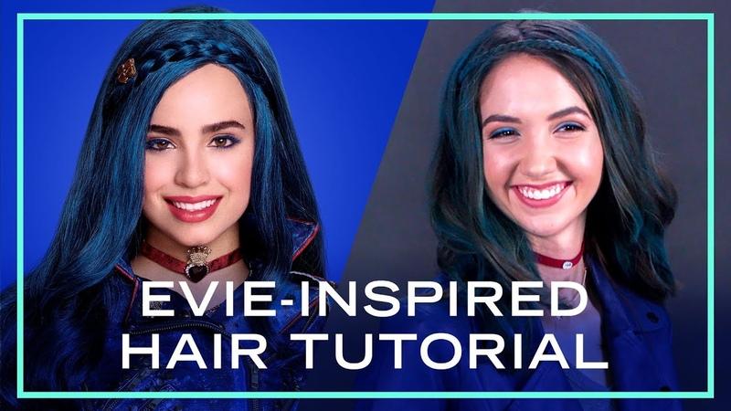 Evie Inspired Hair Tutorial from Descendants 2 Disney Style
